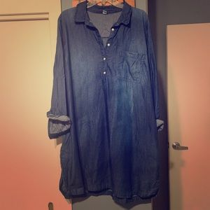 Old Navy Chambray Denim Tunic shirt